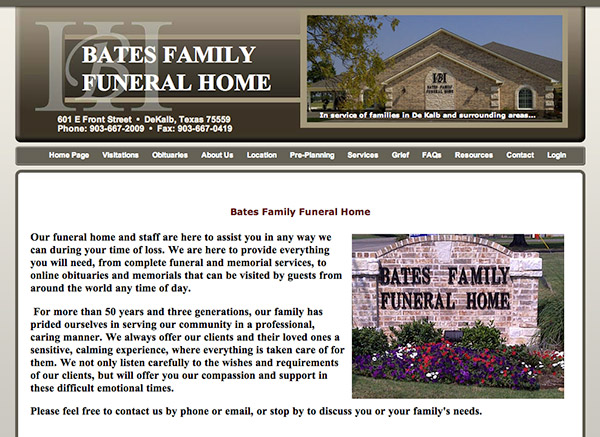 Bates Family Funeral Home